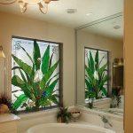 Stained Glass Bath Window by Preston Studios