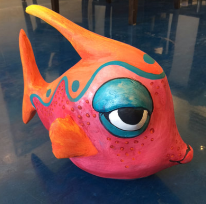 Fish Sculpture by J. Larned